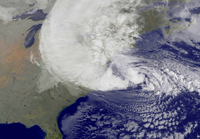 Satellite photo of Sandy